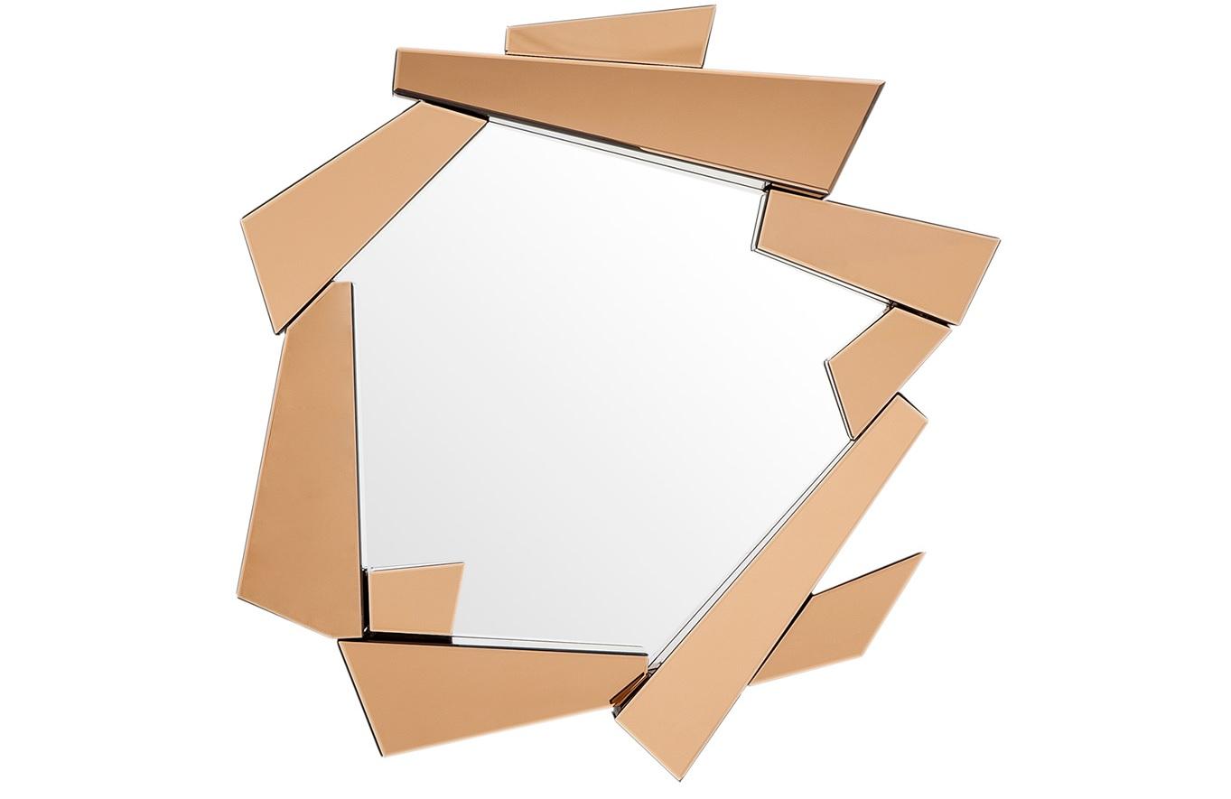 Зеркало Mirror CellinoНастенные зеркала<br>Зеркало Mirror Cellino с оригинальным дизайном. Рамка состоит из зеркальных граней янтарного цвета.<br><br>Material: Стекло<br>Width см: 102<br>Height см: 123