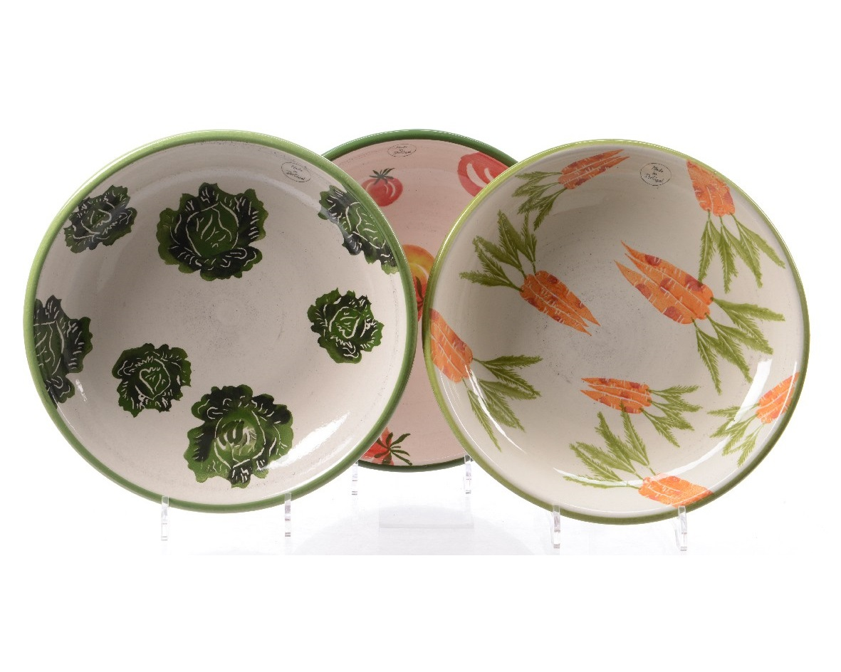 Cалатник Vegetable (морковь)Чаши<br>Ручная работа<br><br>Material: Керамика<br>Height см: 6<br>Diameter см: 32