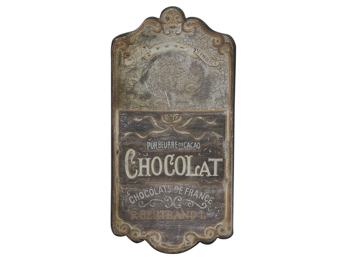 """Винтажная табличка """"Сhocolat"""""""