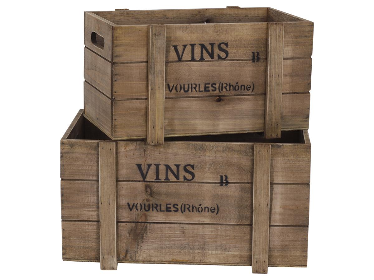 Ящики для вина (2шт)Ящики<br><br><br>Material: Дерево<br>Width см: 39<br>Depth см: 24<br>Height см: 20