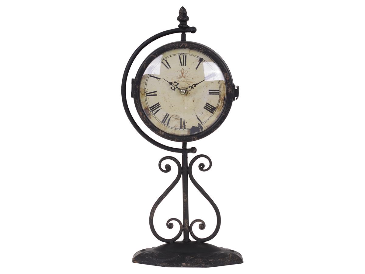 Ретро-часы настольныеНастольные часы<br>кварцевый механизм<br><br>Material: Металл<br>Height см: 42<br>Diameter см: 15