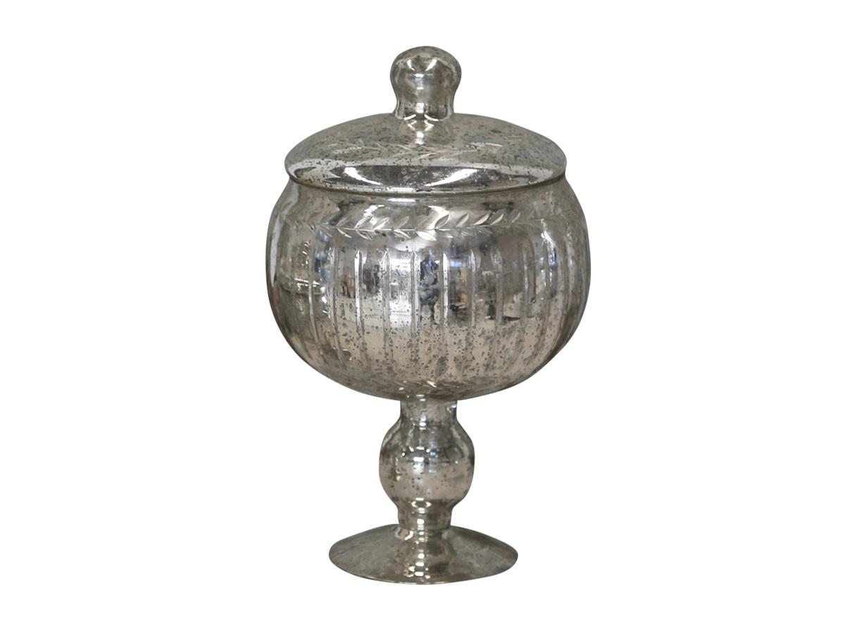 Чаша-кубок с крышкойМиски и чаши<br><br><br>Material: Стекло<br>Height см: 30<br>Diameter см: 19