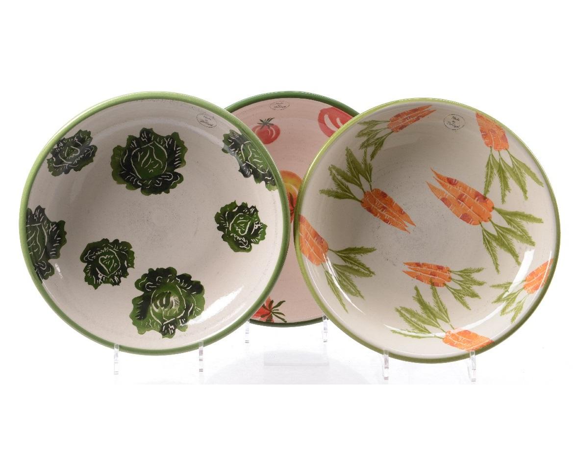 Cалатник Vegetable (капуста)Чаши<br>Ручная работа<br><br>Material: Керамика<br>Height см: 6<br>Diameter см: 32