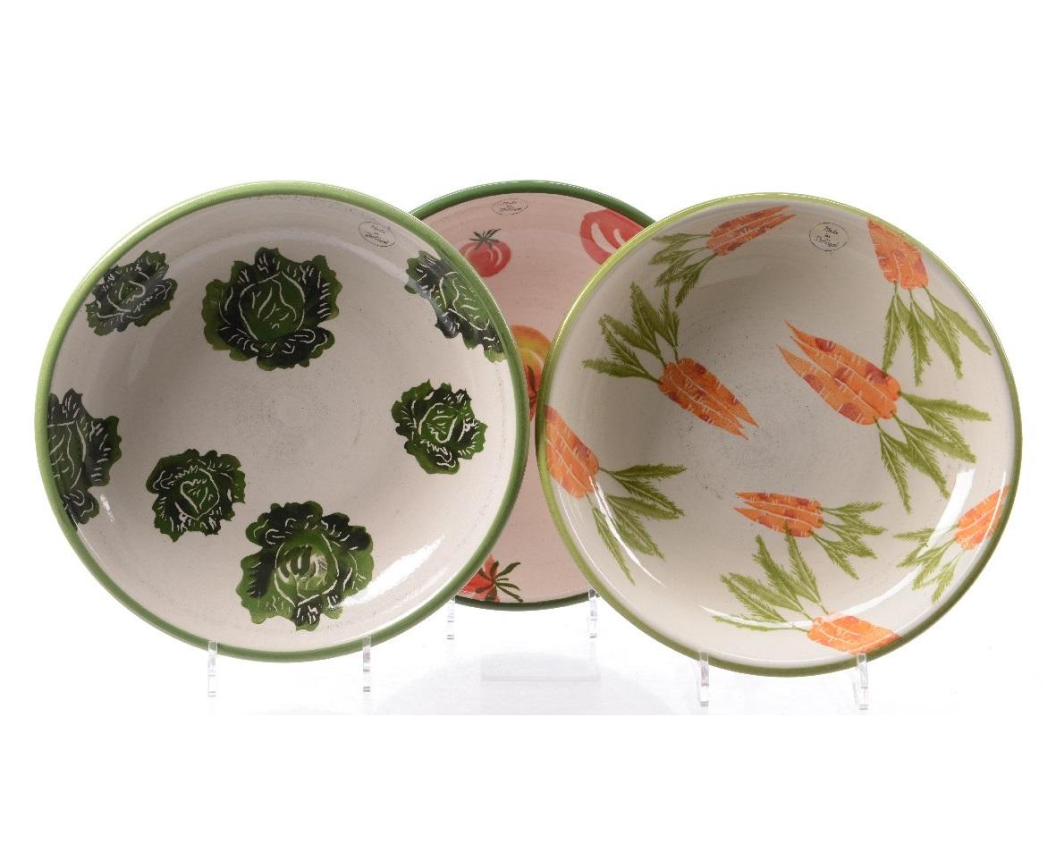 Cалатник Vegetable (томат)Миски и чаши<br>Ручная работа<br><br>Material: Керамика<br>Height см: 6<br>Diameter см: 32