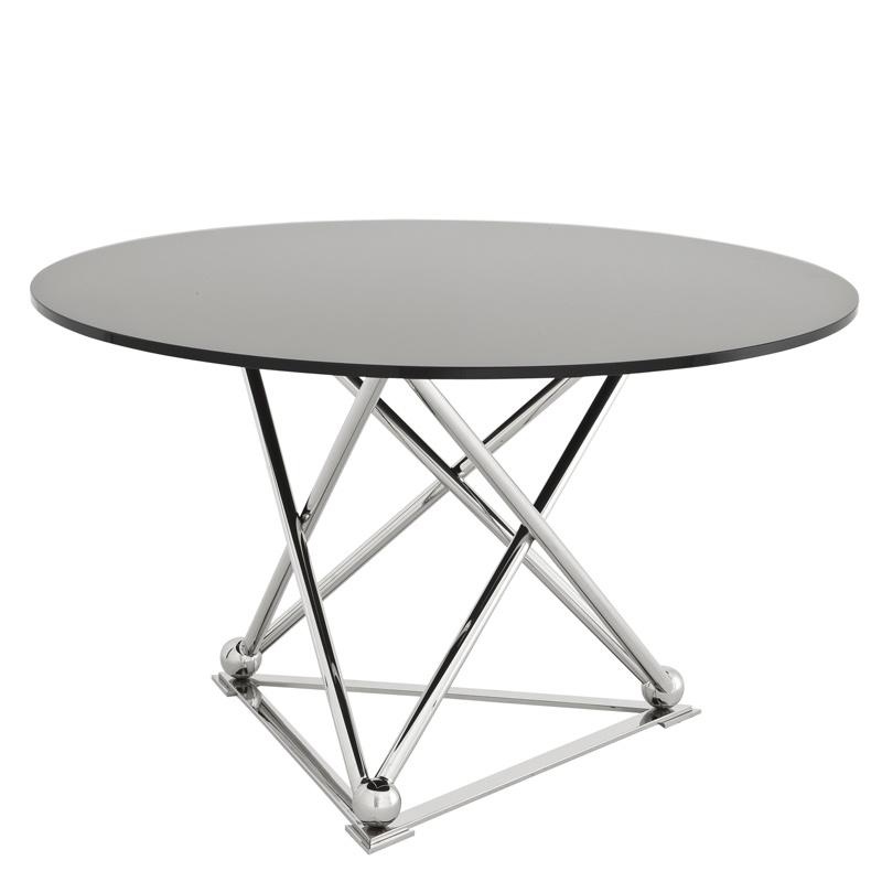 Обеденный стол Dining Table Pebble BeachОбеденные столы<br>Обеденный стол Dining Table Pebble Beach на основании из полированной нержавеющей стали. Столешница выполнена из плотного стекла черного цвета.<br><br>Material: Стекло<br>Height см: 75<br>Diameter см: 130