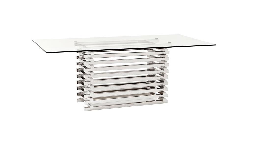 Обеденный стол Dining Table DestroОбеденные столы<br>Обеденный стол Dining Table Destro на основании из полированной нержавеющей стали. Столешница выполнена из плотного прозрачного стекла.<br><br>Material: Стекло<br>Width см: 200<br>Depth см: 90<br>Height см: 76