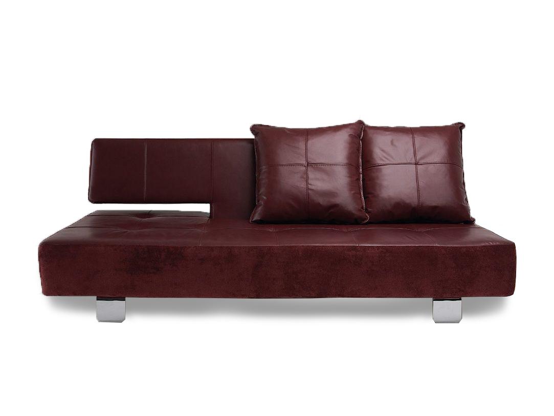 Диван ArtefactКожаные диваны<br>&amp;lt;div&amp;gt;Оригинальный диван-трансформер по своей форме и функциям украсит современный интерьер и послужит дополнительным спальным местом. Варианты и цвета обивки варьируются при заказе, а удобные колесики позволяют играть с перестановкой. Диван раскладной, механизм «клик-кляк», колеса для удобного перемещения.&amp;amp;nbsp;&amp;lt;/div&amp;gt;&amp;lt;div&amp;gt;&amp;lt;br&amp;gt;&amp;lt;/div&amp;gt;&amp;lt;div&amp;gt;Комплектация: 2 подушки.&amp;amp;nbsp;&amp;lt;/div&amp;gt;&amp;lt;div&amp;gt;Возможно исполнение в другом цвете, а также изготовление раскладного кресла и пуфа.&amp;amp;nbsp;&amp;lt;/div&amp;gt;&amp;lt;div&amp;gt;Данный диван представлен в коже класса «Luxury».&amp;lt;/div&amp;gt;&amp;lt;div&amp;gt;&amp;lt;br&amp;gt;&amp;lt;/div&amp;gt;&amp;lt;div&amp;gt;Материал: кожа, металлокаркас, ППУ.&amp;amp;nbsp;&amp;lt;/div&amp;gt;<br><br>Material: Кожа<br>Length см: None<br>Width см: 210<br>Depth см: 115<br>Height см: 80<br>Diameter см: None