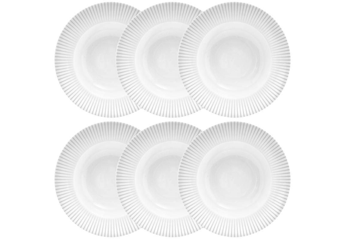 Суповая тарелка MALVERN (6 шт)Тарелки<br><br><br>Material: Фарфор<br>Diameter см: 23