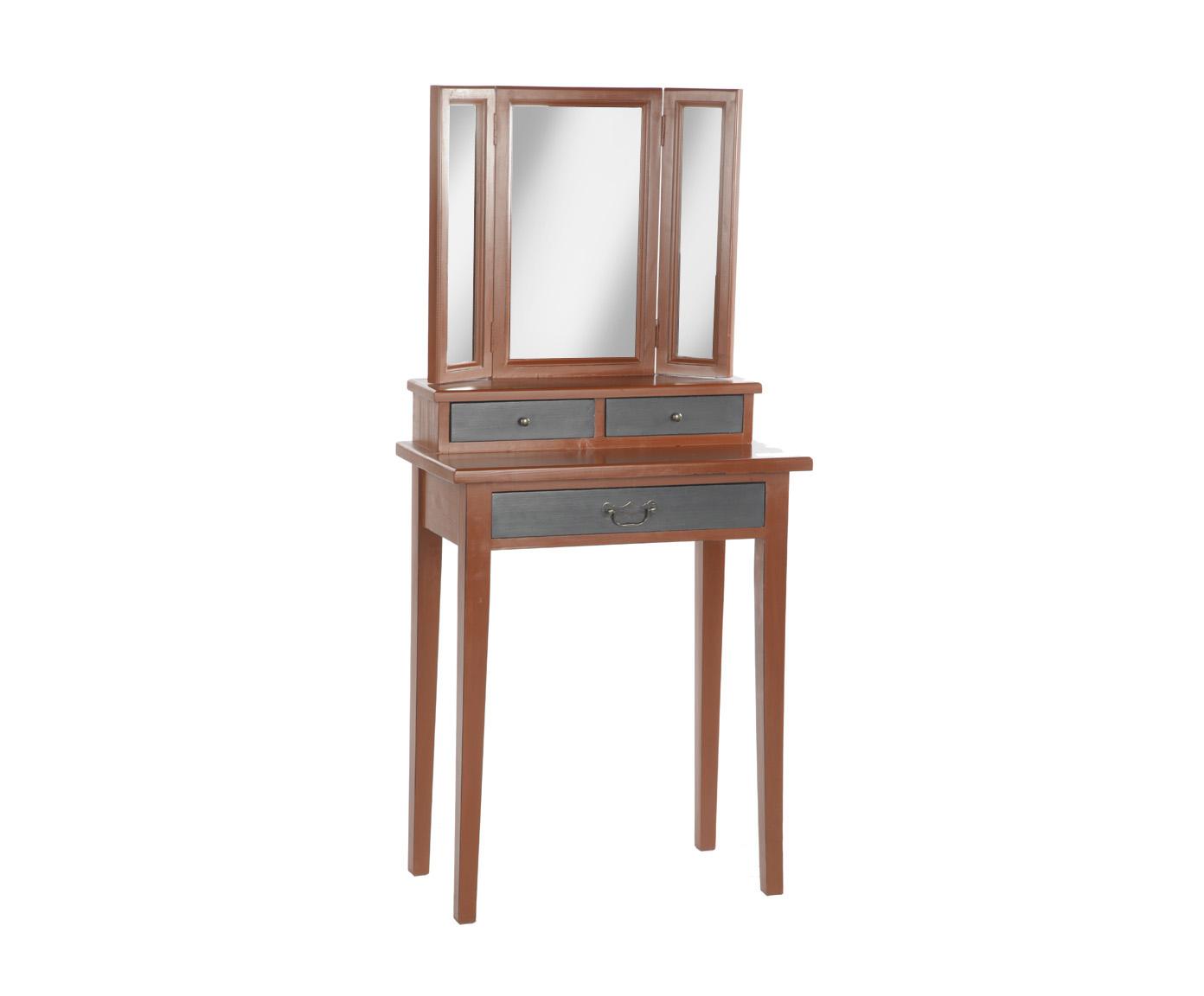 Туалетный столикТуалетные столики<br>Несомненным преимуществом цветной мебели &amp;quot;Кантри&amp;quot; является ее высокое качество. Коллекция изготовлена в Румынии и выполнена полностью из массива дерева (средиземноморская сосна). Мебель &amp;quot;Кантри&amp;quot; рассчитана на длительное и активное использование.<br>Кроме того, большая часть предметов коллекции  &amp;quot;Кантри&amp;quot; покрыта двумя слоями красок разных цветов и запатинирована. Искусственная состаренность придает мебели особый теплый деревенский шарм.&amp;lt;div&amp;gt;&amp;lt;br&amp;gt;&amp;lt;/div&amp;gt;&amp;lt;div&amp;gt;Туалетный столик красно-коричневого цвета с черной патиной, ящики - антрацит с черным.&amp;lt;/div&amp;gt;<br><br>Material: Сосна<br>Ширина см: 65<br>Высота см: 140<br>Глубина см: 35