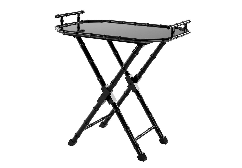 СтолСервировочные столики<br>Сервировочный столик Butler Tray Domingue выполнен из дерева черного цвета. Столешница съемная, можно использовать как поднос.<br><br>Material: Дерево<br>Width см: 89,5<br>Depth см: 60<br>Height см: 84