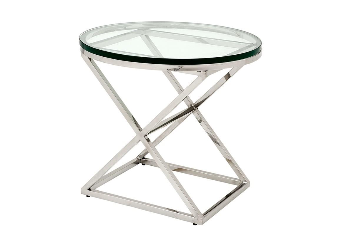 СтолПриставные столики<br>Приставной столик Side Table Conrad на основании из полированной нержавеющей стали.&amp;amp;nbsp;<br><br>Material: Стекло<br>Height см: 54<br>Diameter см: 59