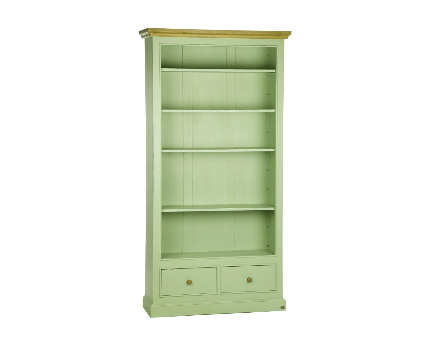 Книжный шкаф-стеллажКнижные шкафы и библиотеки<br>Несомненным преимуществом цветной мебели &amp;quot;Кантри&amp;quot; является ее высокое качество. Коллекция изготовлена в Румынии и выполнена полностью из массива дерева (средиземноморская сосна). Мебель &amp;quot;Кантри&amp;quot; &amp;amp;nbsp;рассчитана на длительное и активное использование.<br>Кроме того, большая часть предметов коллекции  &amp;quot;Кантри&amp;quot; покрыта двумя слоями красок разных цветов и запатинирована. Искусственная состаренность придает мебели особый теплый деревенский шарм.&amp;lt;div&amp;gt;&amp;lt;br&amp;gt;&amp;lt;/div&amp;gt;&amp;lt;div&amp;gt;Книжный шкаф-стеллаж на 4 полки с 2 ящиками, ручки - античное покрытие.&amp;lt;/div&amp;gt;<br><br>Material: Сосна<br>Length см: 0<br>Width см: 108<br>Depth см: 38<br>Height см: 211<br>Diameter см: 0