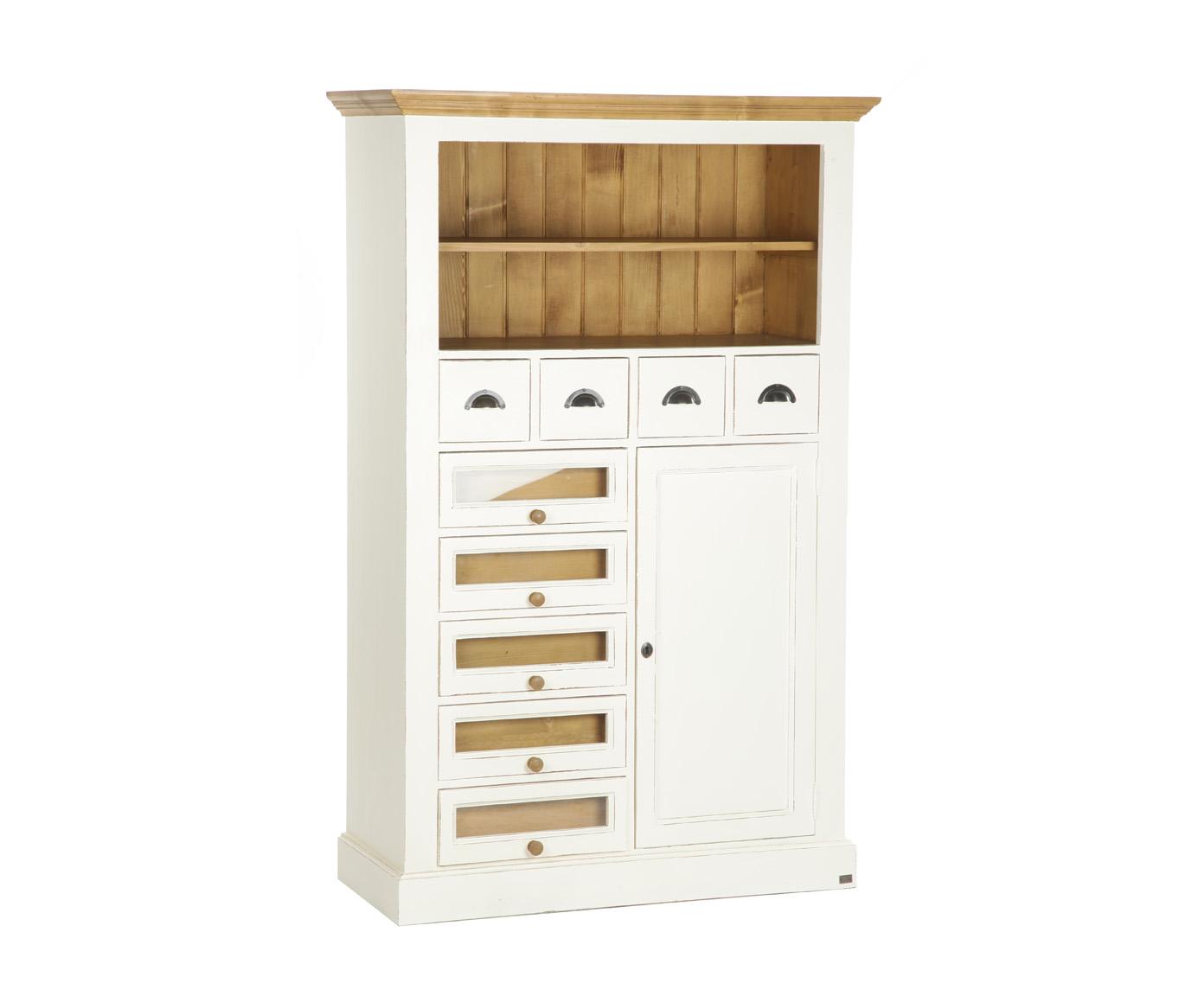 Шкаф для храненияПосудные шкафы<br>Несомненным преимуществом цветной мебели &amp;quot;Кантри&amp;quot; является ее высокое качество. Коллекция изготовлена в Румынии и выполнена полностью из массива дерева (средиземноморская сосна). Мебель &amp;quot;Кантри&amp;quot; из массива рассчитана на длительное и активное использование.<br>Кроме того, большая часть предметов коллекции  &amp;quot;Кантри&amp;quot; покрыта двумя слоями красок разных цветов и запатинирована. Искусственная состаренность придает мебели особый теплый деревенский шарм.&amp;lt;div&amp;gt;&amp;lt;br&amp;gt;&amp;lt;/div&amp;gt;&amp;lt;div&amp;gt;Шкаф для хранения с ящиками, полками из массива сосны цвета слоновой кости с проступающей красной патиной, фурнитура - античное покрытие&amp;lt;/div&amp;gt;<br><br>Material: Сосна<br>Length см: 0<br>Width см: 108<br>Depth см: 45<br>Height см: 170<br>Diameter см: 0