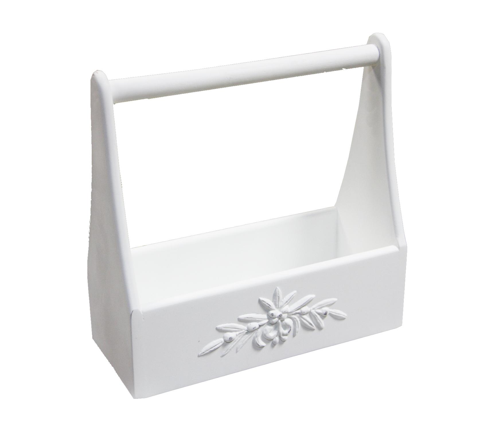 Газетница Снежный ПровансАксессуары для хранения бумаги и канцелярии<br>Белая мебель Прованс для гостиной, спальни, столовой, кабинета отлично впишется в Ваш загородный дом. Белая высококачественная мебель &amp;quot;Снежный Прованс&amp;quot; также может послужить в качестве обстановки детской комнаты подростка. Это функциональная удобная мебель европейского качества. Коллекция изготовлена из массива бука (каркасы и точеные элементы мебели) и из высококачественного МДФ (филенчатые части) и соответствует немецким стандартам для детской мебели.<br>Мебель &amp;quot;Снежный Прованс&amp;quot; имеет плавные изогнутые формы и украшена потертым вручную декором в виде оливковой ветви.<br><br>Material: Бук<br>Ширина см: 33.0<br>Высота см: 32.0<br>Глубина см: 14.0