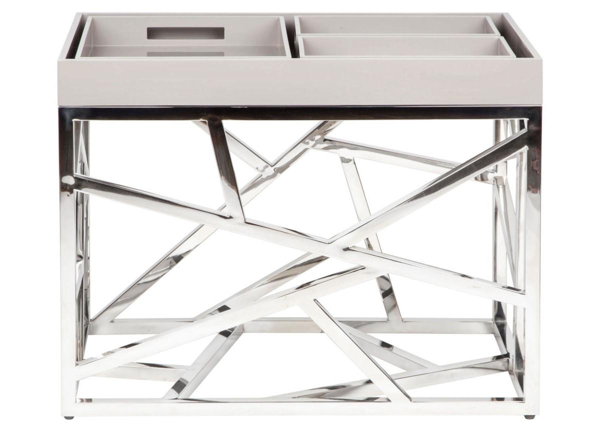 Стол журнальный FittingsЖурнальные столики<br>Элементы конструктивизма вот уже полвека не оставляют умы дизайнеров. Они придумывают моднейшие модели, сочетая сплетение хаотичных и строгих металлических линий с новейшими материалами и деревом. Этот стол – великолепный представитель современного мебельного искусства – будет ярким украшением гостиной. Какой бы мебелью Вы ни решили окружить Fittings, он (она) гармонично подстроится и внесет в интерьер нотку постмодерна.<br><br>Material: Металл<br>Width см: 80<br>Depth см: 50<br>Height см: 65