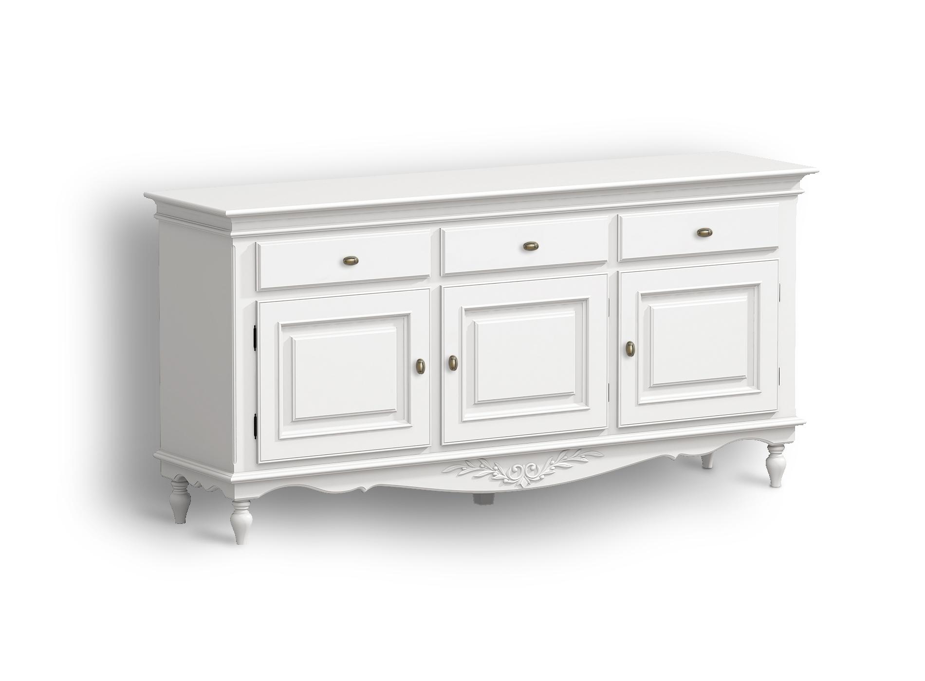 Буфет белый Снежный ПровансНизкие буфеты<br>Белая мебель Прованс для гостиной, спальни, столовой, кабинета отлично впишется в Ваш загородный дом. Белая высококачественная мебель &amp;quot;Снежный Прованс&amp;quot; также может послужить в качестве обстановки детской комнаты подростка. Это функциональная удобная мебель европейского качества. Коллекция изготовлена из массива бука (каркасы и точеные элементы мебели) и из высококачественного МДФ (филенчатые части) и соответствует немецким стандартам для детской мебели.<br>Мебель &amp;quot;Снежный Прованс&amp;quot; имеет плавные изогнутые формы и украшена потертым вручную декором в виде оливковой ветви.<br><br>Material: Бук<br>Length см: None<br>Width см: 190<br>Depth см: 48<br>Height см: 92<br>Diameter см: None
