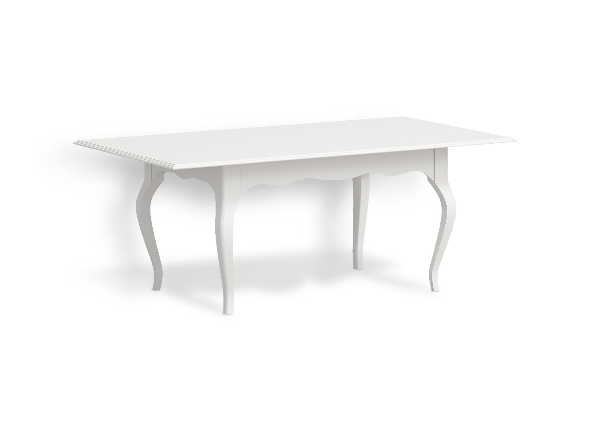 Стол раздвижной Снежный ПровансОбеденные столы<br>Белая мебель Прованс для гостиной, спальни, столовой, кабинета отлично впишется в Ваш загородный дом. Белая высококачественная мебель &amp;quot;Снежный Прованс&amp;quot; также может послужить в качестве обстановки детской комнаты подростка. Это функциональная удобная мебель европейского качества. Коллекция изготовлена из массива бука (каркасы и точеные элементы мебели) и из высококачественного МДФ (филенчатые части) и соответствует немецким стандартам для детской мебели.<br>Мебель &amp;quot;Снежный Прованс&amp;quot; имеет плавные изогнутые формы и украшена потертым вручную декором в виде оливковой ветви.&amp;lt;div&amp;gt;&amp;lt;br&amp;gt;&amp;lt;/div&amp;gt;&amp;lt;div&amp;gt;Размер столешницы в раздвинутом виде 197Х106 см.&amp;lt;/div&amp;gt;<br><br>Material: Бук<br>Ширина см: 152<br>Высота см: 77<br>Глубина см: 106