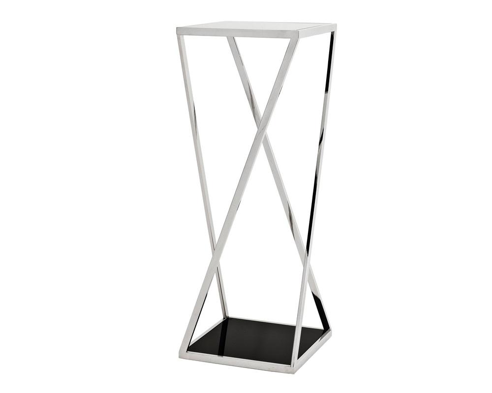 КолоннаПьедесталы<br>Колонна Column Loughlin выполнена из полированной нержавеющей стали. Столешница и основание из плотного стекла черного цвета.<br><br>Material: Металл<br>Ширина см: 40<br>Высота см: 100<br>Глубина см: 40