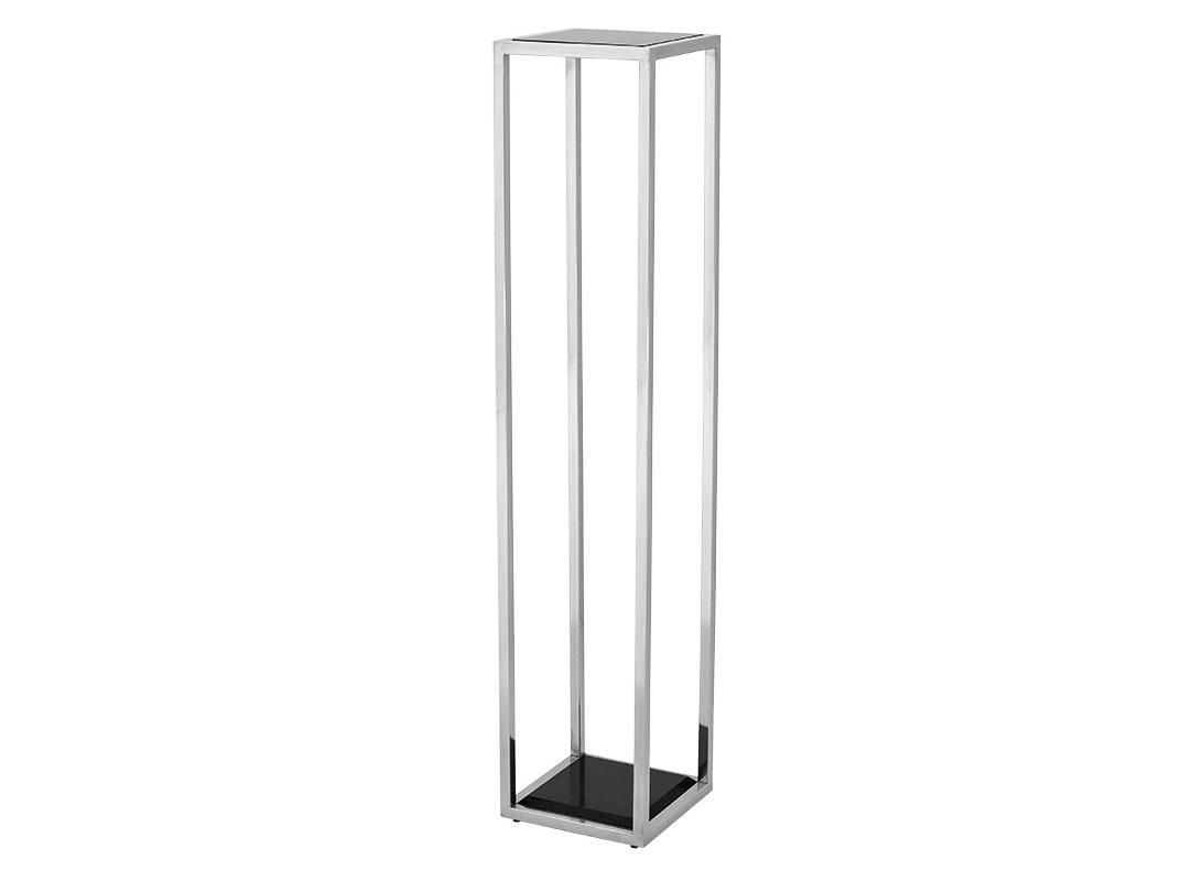 КолоннаНеглубокие консоли<br>Колонна Column Odeon L выполнена из полированной нержавеющей стали. Столешница и основание из мрамора черного цвета.<br><br>Material: Металл<br>Width см: 25<br>Depth см: 25<br>Height см: 120