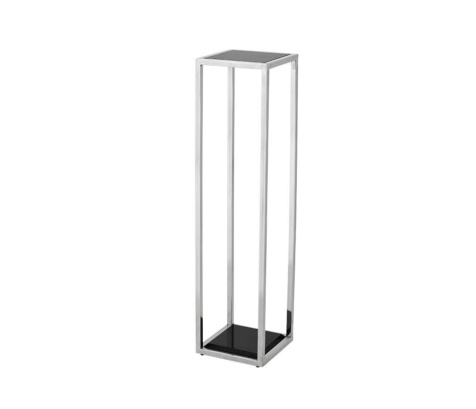 КолоннаНеглубокие консоли<br>Колонна Column Odeon S выполнена из полированной нержавеющей стали. Столешница и основание из мрамора черного цвета.<br><br>Material: Металл<br>Width см: 25<br>Depth см: 25<br>Height см: 100