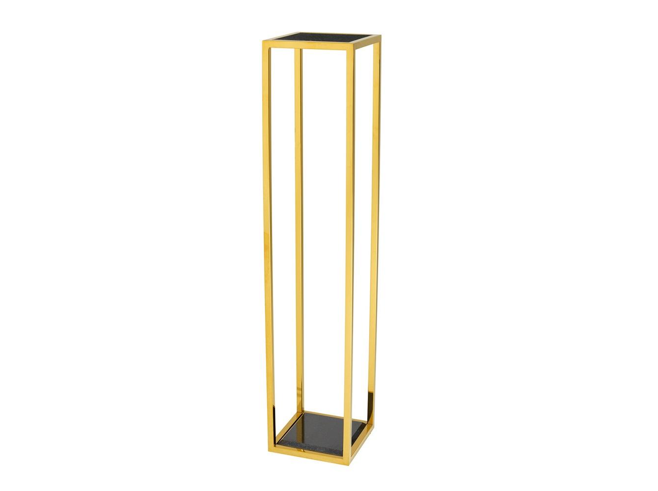КолоннаПьедесталы<br>Колонна Column Odeon L выполнена из металла золотого цвета. Столешница и основание из мрамора черного цвета.<br><br>Material: Металл<br>Width см: 25<br>Depth см: 25<br>Height см: 120