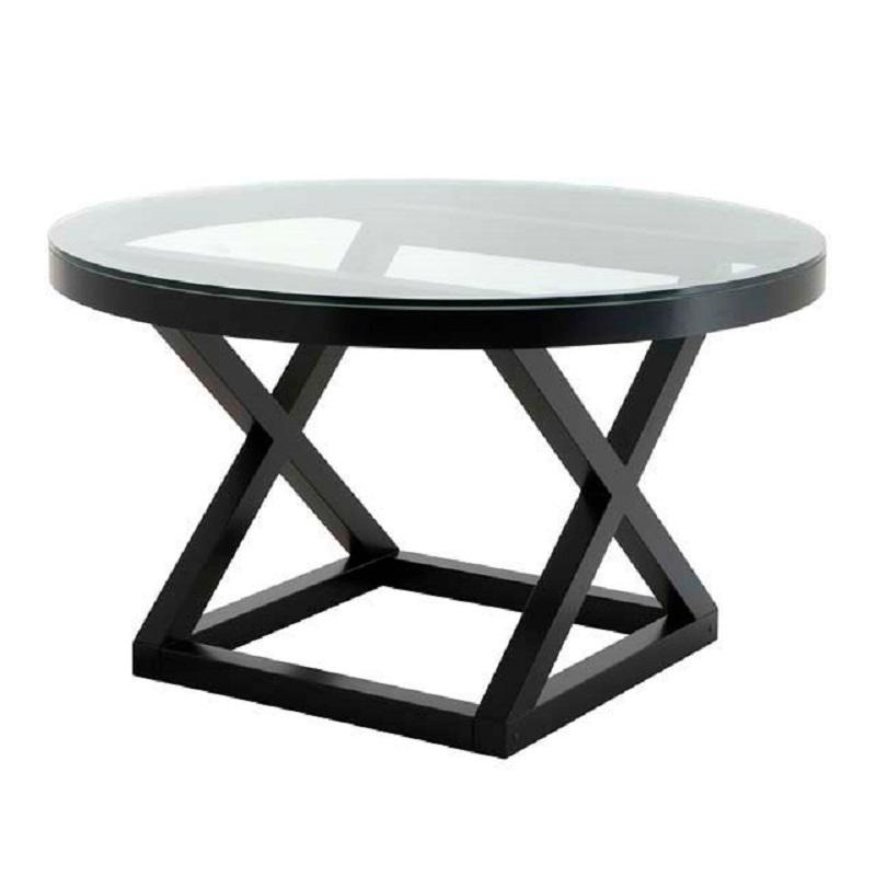 СтолОбеденные столы<br>Обеденный стол Dining Table Stockholm выполнен из металла черного цвета. Столешница выполнена из плотного прозрачного стекла.<br><br>Material: Стекло<br>Height см: 76<br>Diameter см: 130