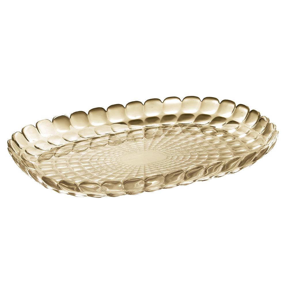 Поднос TiffanyДекоративные подносы<br>Изящный поднос Tiffany предназначен стать украшением любого стола. Используйте его для подачи основных блюд, салатов, закусок, десертов и выпечки. Идеально подходит для сервировки на свежем воздухе - рельефная форма подноса в сочетании с прозрачным материалом заставляет поверхность сверкать и переливаться на свету. Органическое стекло, из которого изготовлен поднос, характеризуется устойчивостью к износу и повреждениям.&amp;amp;nbsp;&amp;lt;div&amp;gt;&amp;lt;br&amp;gt;&amp;lt;/div&amp;gt;&amp;lt;div&amp;gt;Не содержит вредных примесей и бисфенола-А.&amp;amp;nbsp;&amp;lt;/div&amp;gt;&amp;lt;div&amp;gt;Можно мыть в посудомоечной машине.&amp;lt;/div&amp;gt;<br><br>Material: Стекло<br>Width см: 32<br>Depth см: 22,5<br>Height см: 3