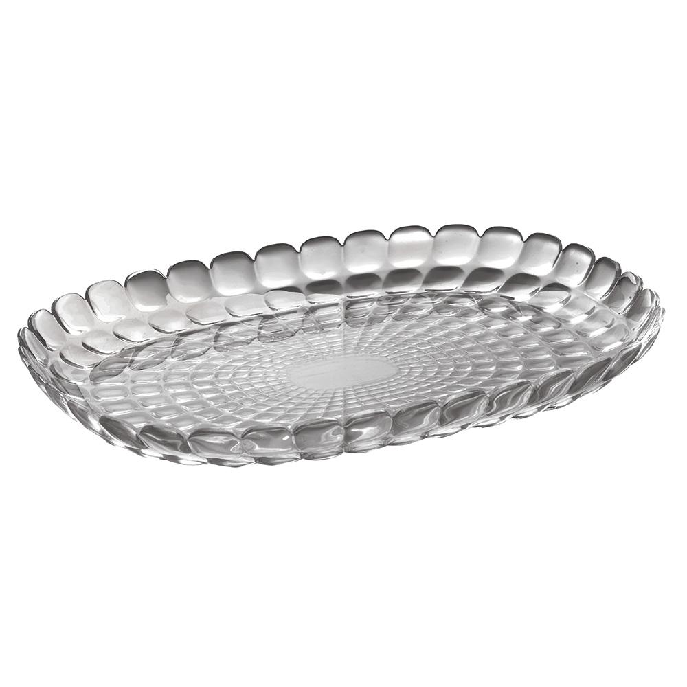 Поднос TiffanyДекоративные подносы<br>Изящный поднос Tiffany предназначен стать украшением любого стола. Используйте его для подачи основных блюд, салатов, закусок, десертов и выпечки. Идеально подходит для сервировки на свежем воздухе - рельефная форма подноса в сочетании с прозрачным материалом заставляет поверхность сверкать и переливаться на свету. Органическое стекло, из которого изготовлен поднос, характеризуется устойчивостью к износу и повреждениям.&amp;amp;nbsp;&amp;lt;div&amp;gt;&amp;lt;br&amp;gt;&amp;lt;/div&amp;gt;&amp;lt;div&amp;gt;Не содержит вредных примесей и бисфенола-А.&amp;amp;nbsp;&amp;lt;/div&amp;gt;&amp;lt;div&amp;gt;Можно мыть в посудомоечной машине.&amp;lt;/div&amp;gt;<br><br>Material: Стекло<br>Width см: 45<br>Depth см: 31<br>Height см: 4,5