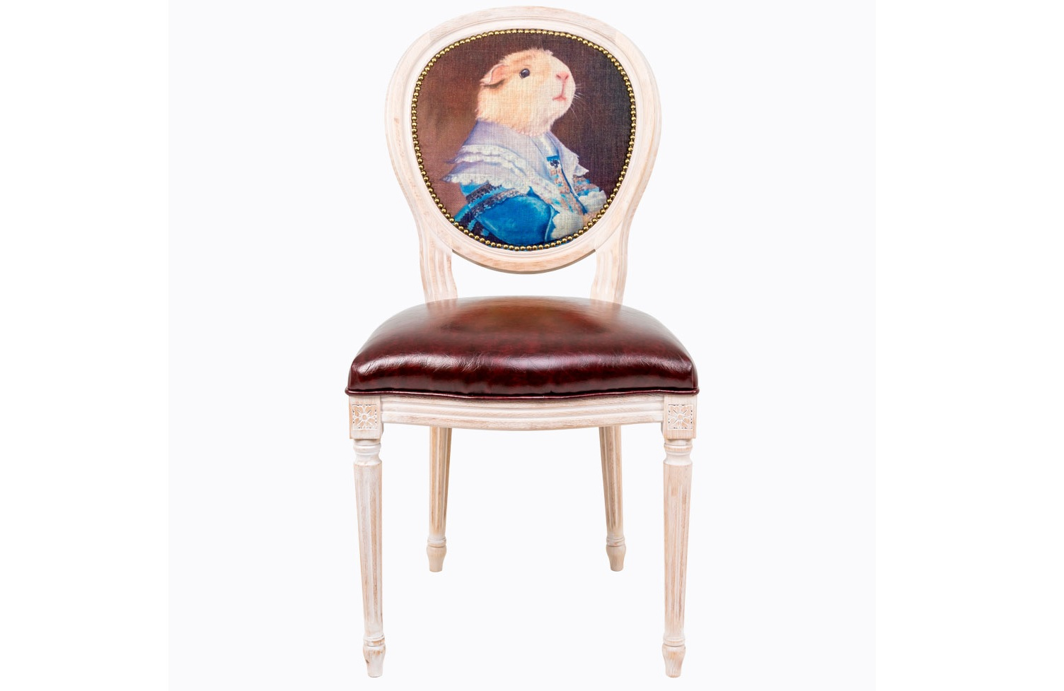 Стул Музейный экспонат, версия 20Обеденные стулья<br>Стулья серии &amp;quot;Музейный экспонат&amp;quot; имитируют дворцовую эпоху Луи-Филиппа, предпочитающую благородные лаконичные формы, раскрашенные золотистыми анкерами и филигранной резьбой. Натуральное дерево и ручная работа одухотворяют предметы мебели, вносят эмоции тепла и персональной заботы. Стулья изготовлены из ядра натурального бука. Корпусы стульев серии &amp;quot;Музейный экспонат&amp;quot; выточены, брашированы и патинированы в Италии. Благородная фактура натурального дерева подчеркнута рукописной патиной. Обивка спинки оснащена тефлоновым покрытием против пятен.&amp;lt;div&amp;gt;&amp;lt;br&amp;gt;&amp;lt;/div&amp;gt;&amp;lt;div&amp;gt;Материал сидения - экокожа.&amp;lt;/div&amp;gt;<br><br>Material: Дерево<br>Ширина см: 50<br>Высота см: 98<br>Глубина см: 47