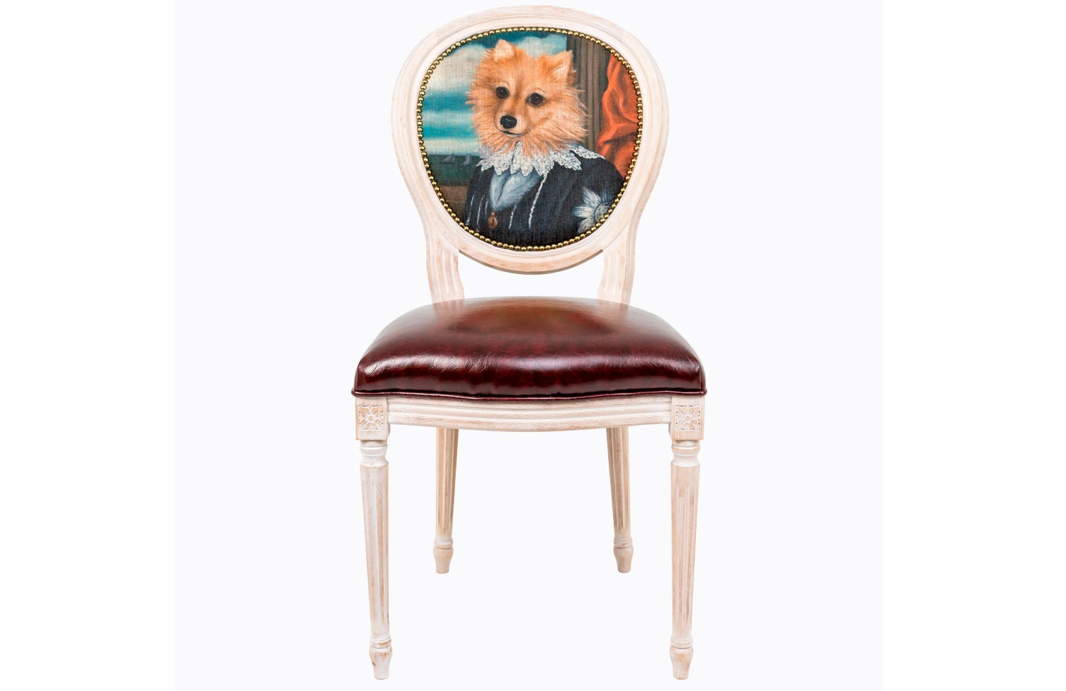 Стул Музейный экспонат, версия 11Обеденные стулья<br>Стулья серии &amp;quot;Музейный экспонат&amp;quot; имитируют дворцовую эпоху Луи-Филиппа, предпочитающую благородные лаконичные формы, раскрашенные золотистыми анкерами и филигранной резьбой. Натуральное дерево и ручная работа одухотворяют предметы мебели, вносят эмоции тепла и персональной заботы. Стулья изготовлены из ядра натурального бука. Корпусы стульев серии &amp;quot;Музейный экспонат&amp;quot; выточены, брашированы и патинированы в Италии. Благородная фактура натурального дерева подчеркнута рукописной патиной. Обивка спинки оснащена тефлоновым покрытием против пятен.&amp;lt;div&amp;gt;&amp;lt;br&amp;gt;&amp;lt;/div&amp;gt;&amp;lt;div&amp;gt;Материал сидения - экокожа.&amp;lt;/div&amp;gt;<br><br>Material: Дерево<br>Ширина см: 50<br>Высота см: 98<br>Глубина см: 47