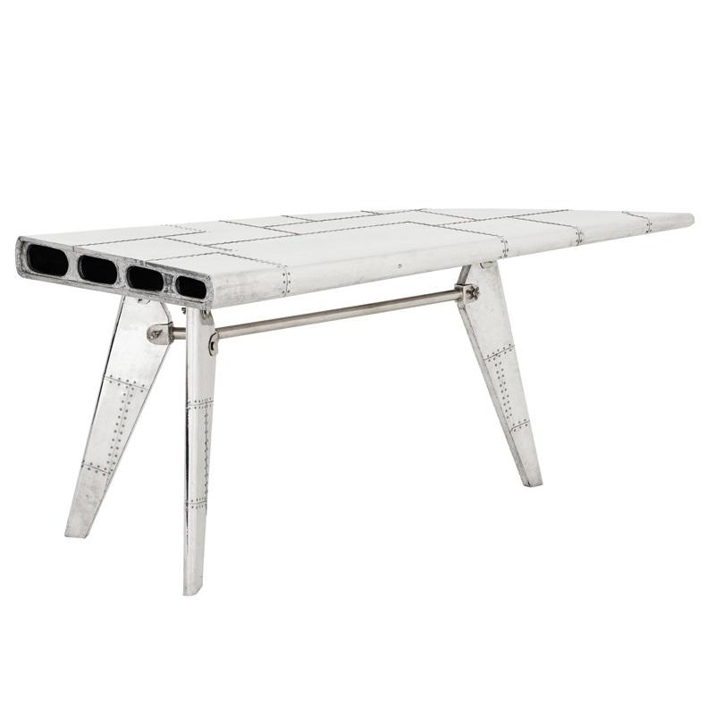 СтолПисьменные столы<br>Письменный стол Desk Convair Right с оригинальным дизайном в виде крыла самолета. Стол выполнен из полированного алюминия.<br><br>Material: Металл<br>Ширина см: 178<br>Высота см: 79.0<br>Глубина см: 79.0