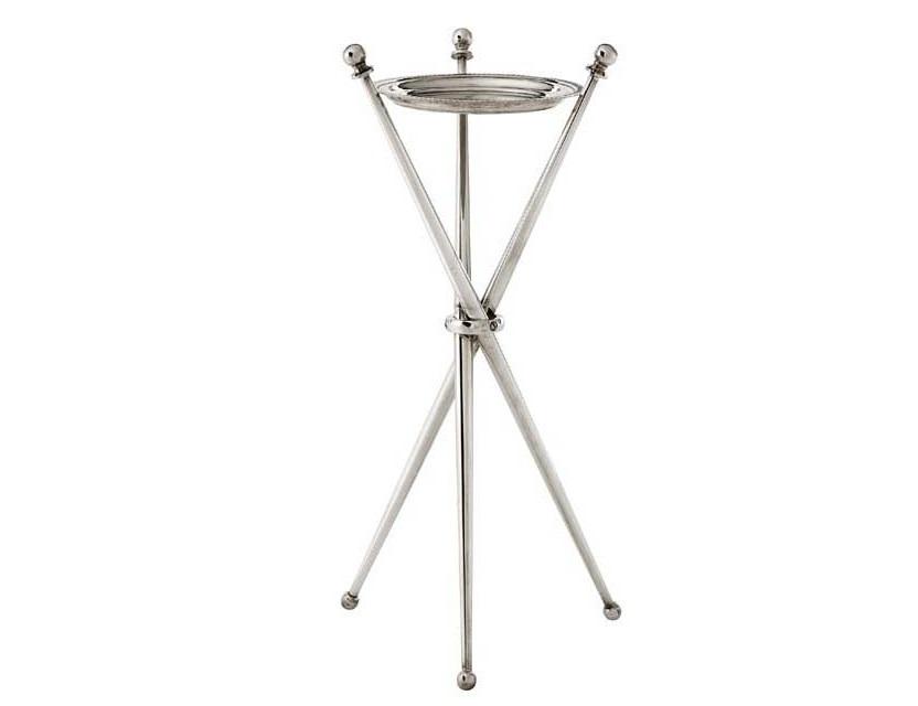 СтолКофейные столики<br>Столик Side Table Wine Lido выполнен из металла серебряного цвета.<br><br>Material: Металл<br>Height см: 50<br>Diameter см: 17,5
