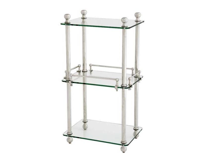 СтолСервировочные столики<br>Столик в ванную комнату Bathroom Rack Devon выполнен из никелированного металла. Полки из плотного прозрачного стекла.<br><br>Material: Металл<br>Ширина см: 43.0<br>Высота см: 82.0<br>Глубина см: 32.0