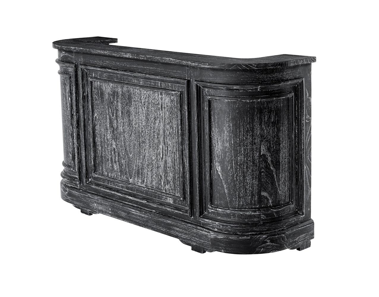Барная стойкаБарные столы<br>Барная стойка Bar Unit Bramante выполнена из дерева черного цвета с эффектом состаривания. Внутри расположены полки.<br><br>Material: Дерево<br>Ширина см: 90<br>Высота см: 101<br>Глубина см: 50