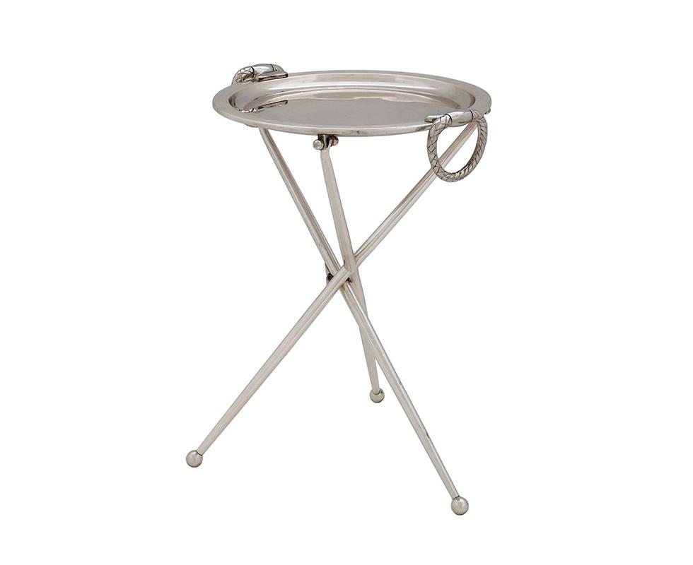 СтолКофейные столики<br>Столик Side Table Keller выполнен из металла серебряного цвета.<br><br>Material: Металл<br>Height см: 43<br>Diameter см: 33