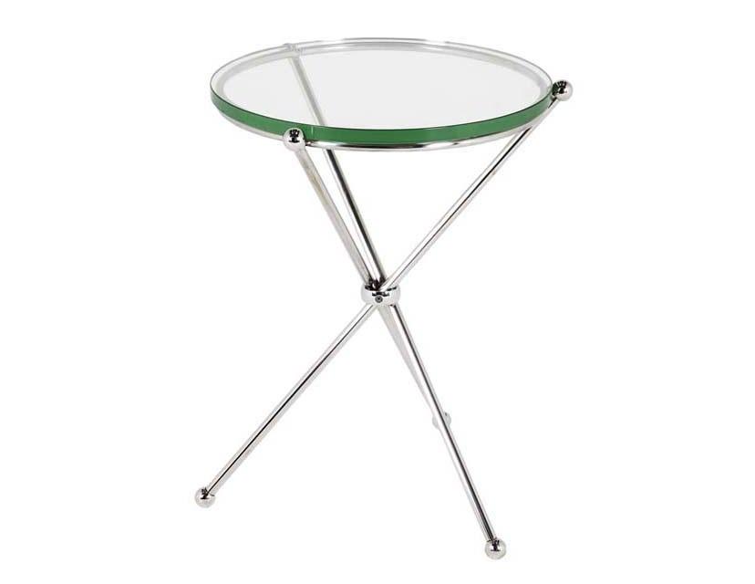 СтолПриставные столики<br>Приставной столик Side Table Donna на основании из полированной нержавеющей стали. Столешница выполнена из плотного прозрачного стекла.<br><br>Material: Стекло<br>Height см: 60<br>Diameter см: 45