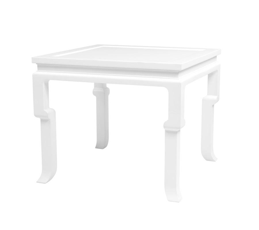СтолПриставные столики<br>Приставной столик Side Table Opium выполнен из дерева лакированного белого цвета.<br><br>Material: Дерево<br>Width см: 65<br>Depth см: 65<br>Height см: 55