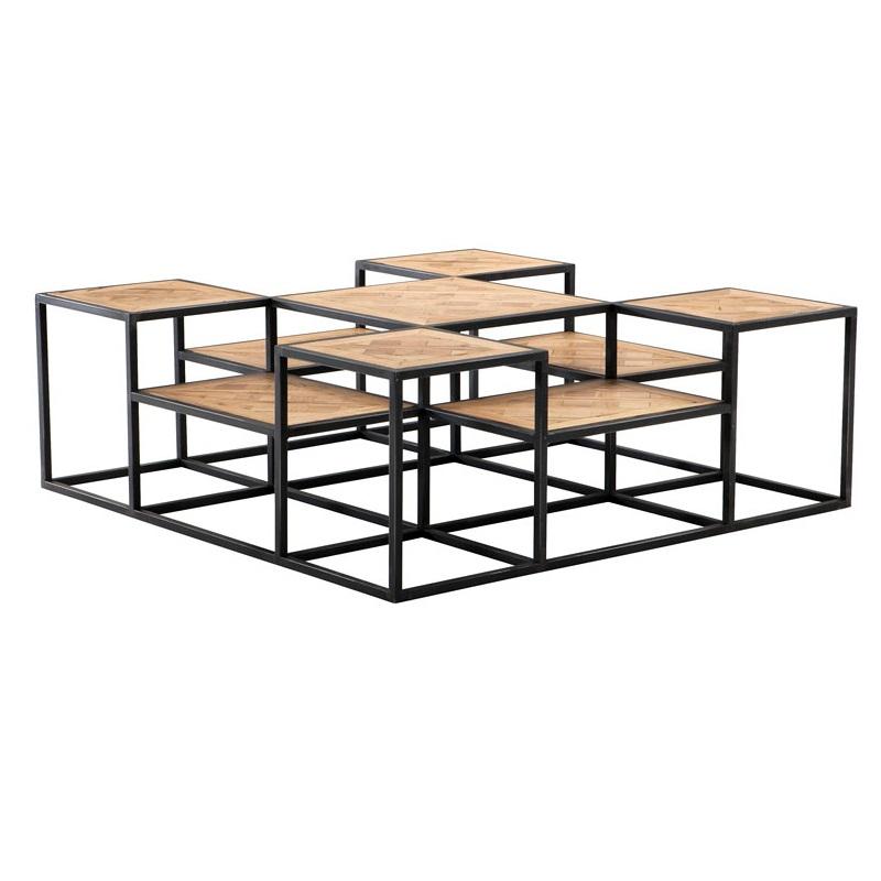 Журнальный столикЖурнальные столики<br>Журнальный столик Coffee Table Smythson на основании из цинкового металла. Столешницы из дуба, обработанного вручную. Цвет: светло-коричневый. По своей природе, деревянные доски могут быть неравномерным, могут присутствовать трещины. Таким образом каждый элемент является уникальным.<br><br>Material: Дерево<br>Width см: 120<br>Depth см: 120<br>Height см: 42