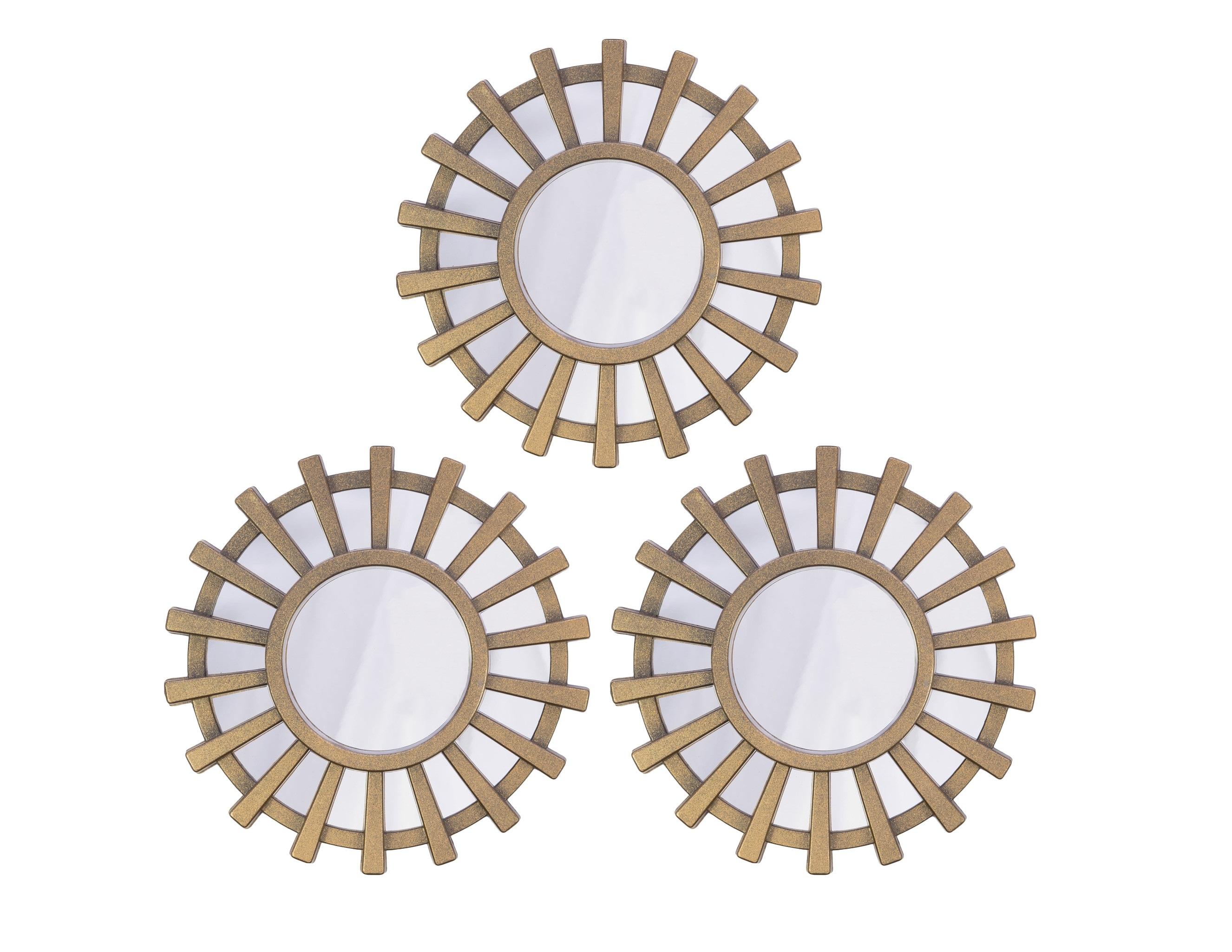 Зеркало настенное Berg (3шт)Настенные зеркала<br>Размеры: 3х (25 Х 25 Х 2)<br><br>Material: Пластик<br>Depth см: 2<br>Diameter см: 25