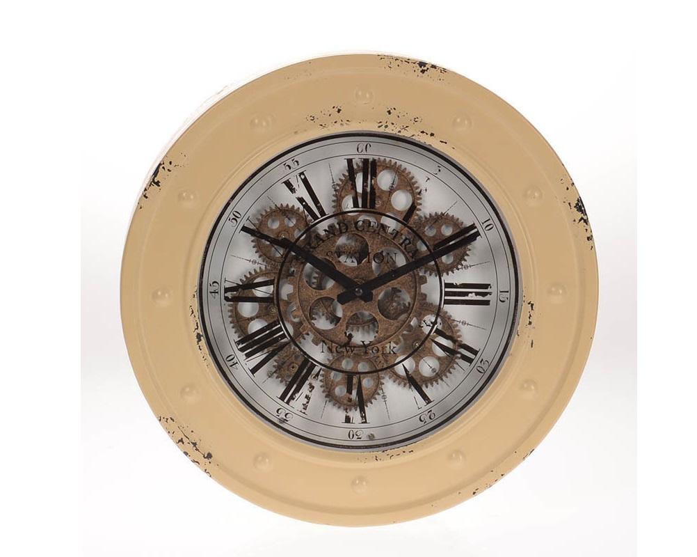 Часы настенные BichvortНастенные часы<br>кварцевый механизм<br><br>Material: Металл<br>Глубина см: 9