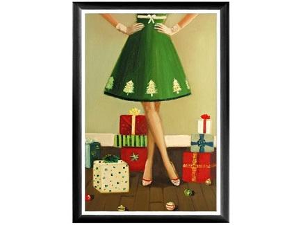 Арт-постер «рождественское платье» (object desire) мультиколор 46.0x66.0x2.0 см.