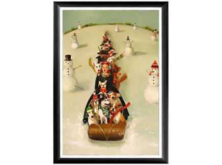 Арт-постер «рождественские каникулы» (object desire) мультиколор 46.0x66.0x2.0 см.
