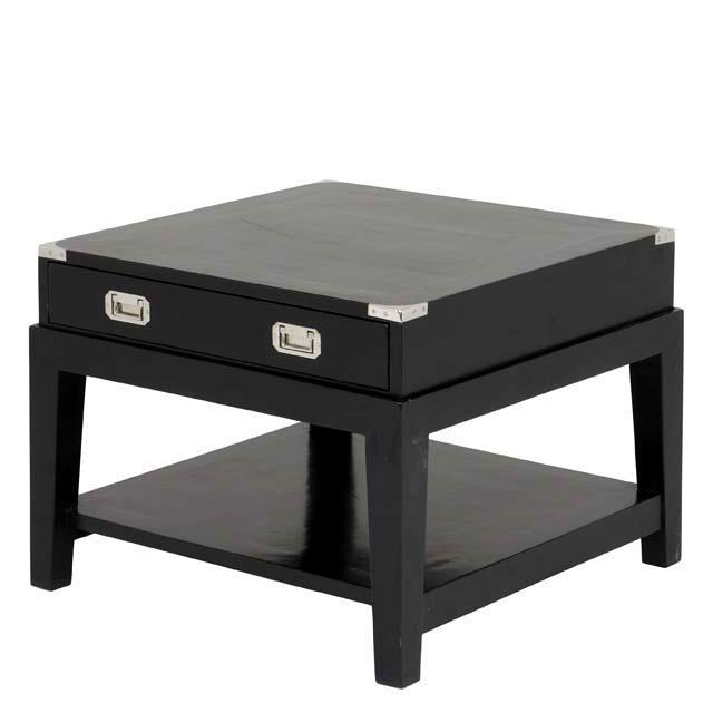 Приставной столик Side Table MilityaПриставные столики<br>Приставной столик Side Table Milityar имеет два выдвижных ящика.<br><br>Material: Дерево<br>Ширина см: 65<br>Высота см: 50<br>Глубина см: 65