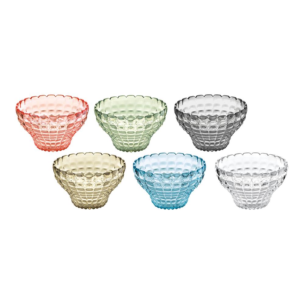 Набор пиал Tiffany (6шт)Миски и чаши<br>Этот набор Tiffany состоит из 6 небольших универсальных пиал, которые добавят яркости вашей кухне или гостиной. Их можно использовать для подачи варенья, джемов, мёда и других сладостей. Так же подойдут и для сыпучих продуктов, таких, как сахар, орехи, драже и конфеты. Прозрачный цветной материал придает поверхности пиалы характерный блеск. Сверкающий эффект усиливается на солнечном свету, поэтому весь набор станет отличным решением для сервировки на свежем воздухе. Изготовлены из высококачественного органического стекла, устойчивого к износу и повреждениям.&amp;amp;nbsp;Не содержат вредных примесей и бисфенола-А. Можно мыть в посудомоечной машине.&amp;lt;div&amp;gt;&amp;lt;br&amp;gt;&amp;lt;/div&amp;gt;&amp;lt;div&amp;gt;Объем каждой пиалы - 300 мл.&amp;amp;nbsp;&amp;lt;br&amp;gt;&amp;lt;/div&amp;gt;<br><br>Material: Стекло<br>Height см: 7<br>Diameter см: 12
