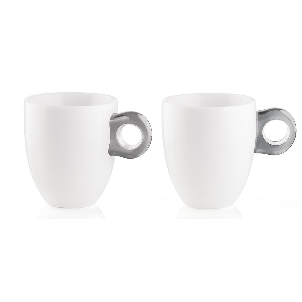 Набор кружек Gocce (2 шт)Чайные пары и чашки<br>Набор из двух фарфоровых кружек с ручками из органического стекла. Специальная техника по работе с акрилом позволяет создавать двухуровневый, &amp;quot;объемный&amp;quot; цвет, который прекрасно контрастирует с белизной фарфора. Кружки на каждый день идеально подойдут для разнообразных горячих и холодных напитков. Они будут одинаково хорошо смотреться как в квартире, так и в загородном доме, а так же во время пикника на свежем воздухе.&amp;amp;nbsp;&amp;lt;div&amp;gt;&amp;lt;br&amp;gt;&amp;lt;/div&amp;gt;&amp;lt;div&amp;gt;Объем - 250 мл.&amp;amp;nbsp;&amp;lt;/div&amp;gt;&amp;lt;div&amp;gt;Можно мыть в посудомоечной машине и использовать в микроволновой печи.&amp;lt;/div&amp;gt;<br><br>Material: Фарфор<br>Height см: 9,5<br>Diameter см: 8,5