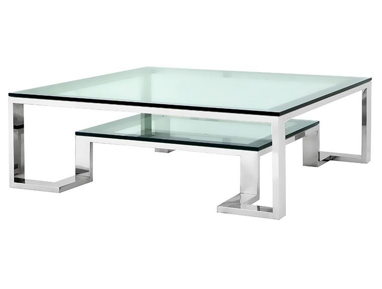 Журнальный столик Coffee Table HuntingtonЖурнальные столики<br>Журнальный столик Coffee Table Huntington на основании из нержавеющей стали. Столешница выполнена из плотного прозрачного стекла.<br><br>Material: Стекло<br>Width см: 120<br>Depth см: 120<br>Height см: 40