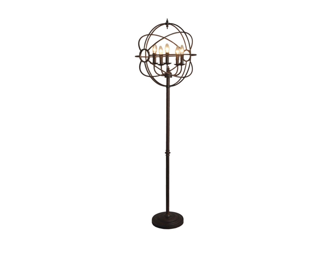 Напольная лампа Iron Orb Floor LampТоршеры<br>&amp;lt;div&amp;gt;Вид цоколя: E14&amp;lt;/div&amp;gt;&amp;lt;div&amp;gt;Мощность лампы: 80&amp;lt;/div&amp;gt;&amp;lt;div&amp;gt;Количество ламп: 5&amp;lt;/div&amp;gt;<br><br>Material: Металл<br>Width см: 50<br>Depth см: 50<br>Height см: 165