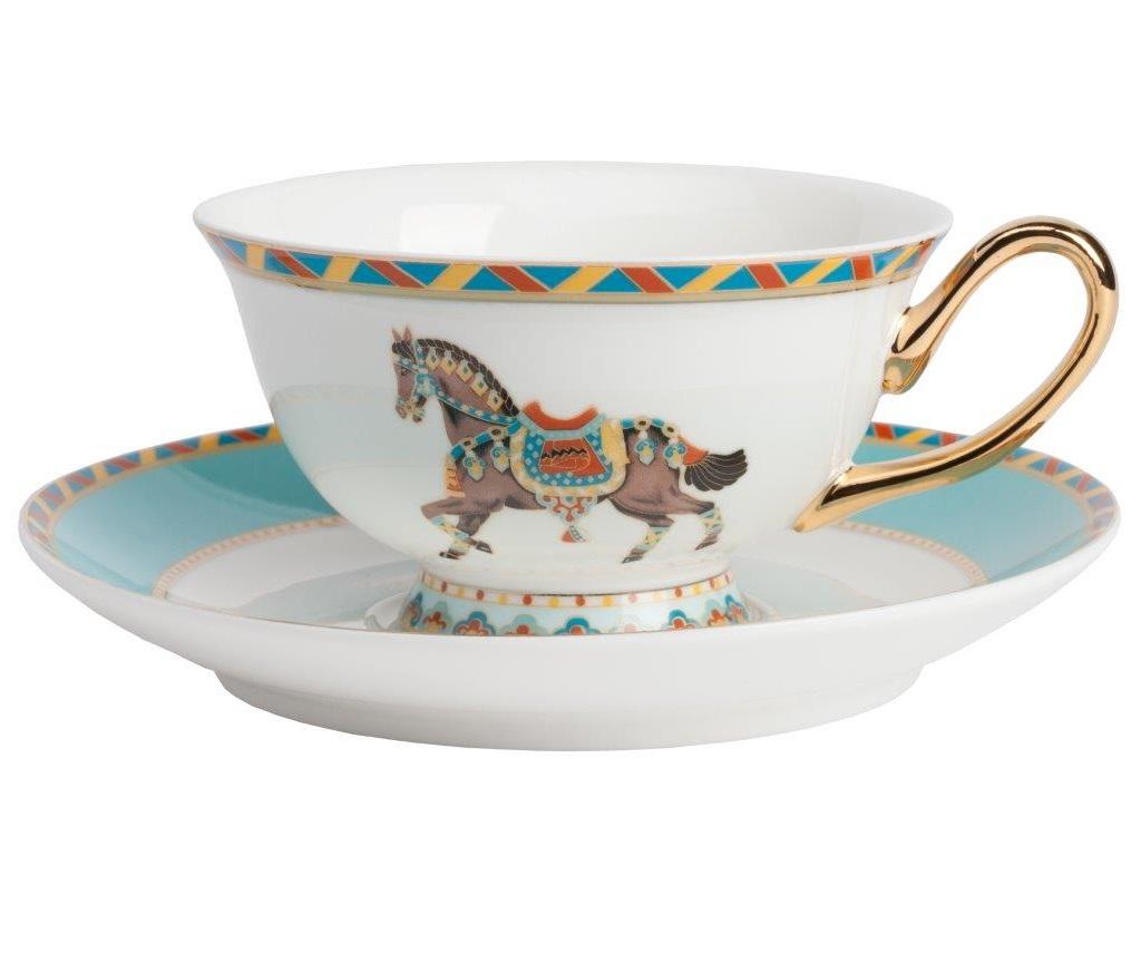 Чайная пара CaballeriaЧайные пары, чашки и кружки<br><br><br>Material: Фарфор<br>Width см: 11<br>Depth см: 4<br>Height см: 7