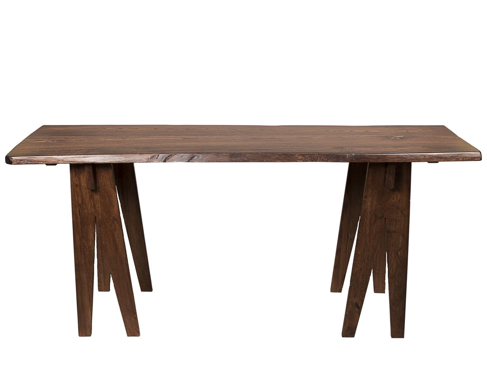 СтолешницаЖурнальные столики<br>Столешница из массива карагача (с его неповторимой текстурой) для кухни, барной стойки или ванной комнаты. Также может стать прекрасным обеденным столом - мы сделаем ножки на ваш вкус (классические 4 по углам столешницы, или любые другие). <br>Трещины в дереве залиты эпоксидной глазурью.<br>Возможно изготовление в других размерах и цвете. <br><br>Поскольку столешница имеет «живой» край, то ширина немного варьируется — плюс-минус 3 см.<br><br>Поставляется в готовом виде — сборка не требуется.<br><br>Material: Дерево<br>Ширина см: 201