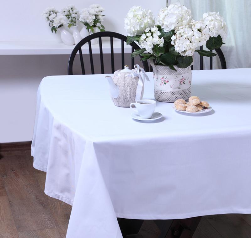 Скатерть БейсикСкатерти<br>Скатерть из коллекции «Бейсик» идеально подойдет для сервировки и декорирования стола. Она сшита из высококачественного твила, состоящего из натурального хлопка – 65% и полиэстера – 35%, и имеет чистый белый цвет. Скатерть выполнена в классическом стиле, она тонко подчеркнет стиль кухни, столовой или гостиной и украсит даже праздничный стол.<br><br>Material: Хлопок<br>Length см: 320<br>Width см: 145